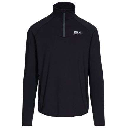 Brennen Mens Long Sleeved Active Top in Black