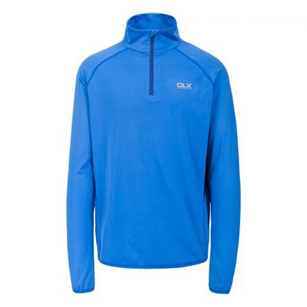 Brennen Mens Long Sleeved Gym Top in Blue