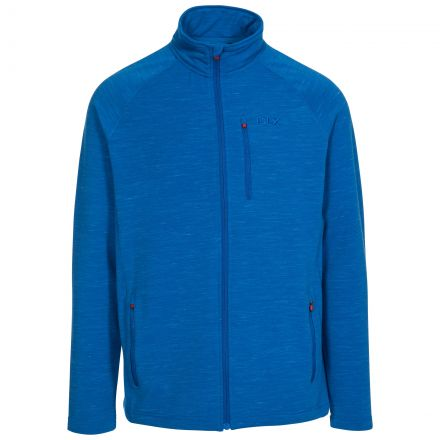 Brolin Mens Zipper Fleece in Blue