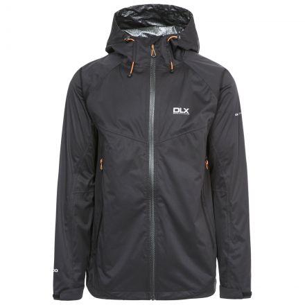 Edmont 2.0 Mens Waterproof Jacket in Black, Front view on mannequin