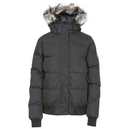 Kendrick Womens Waterproof Hydrophobic Down Jacket in Black