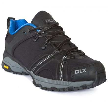 Keyboard Mens Softshell Walking Shoes in Black
