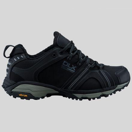 Keyboard Mens Softshell Walking Shoes in Black