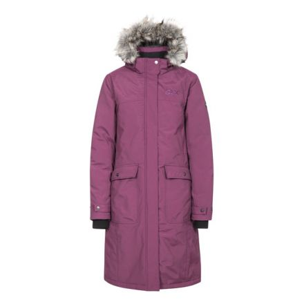 Munros Womens Waterproof Down Jacket in Burgundy