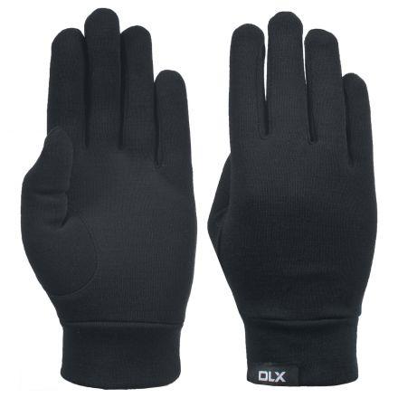 Naoki Adults Black Merino Wool Gloves in Black