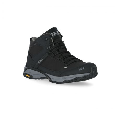 Renton Mens Black Vibram Walking Boots in Black
