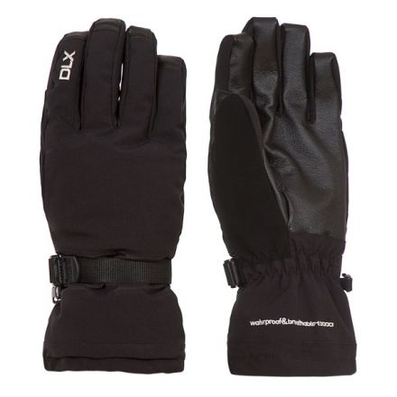Spectre Adults Black Waterproof Ski Gloves in Black
