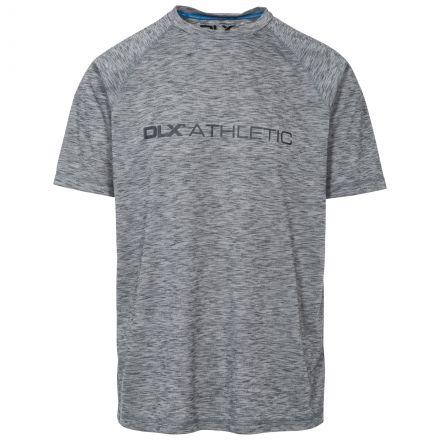 Striking Mens Grey Round Neck Active T-shirt in Light-Grey