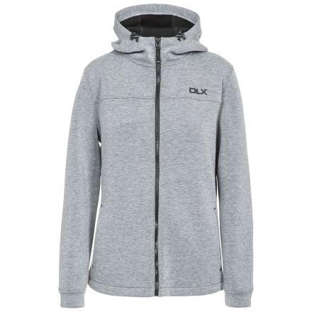Tauri Womens Hooded Sweatshirt in Light-Grey