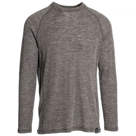 Wexler Mens Long Sleeved Merino Wool Top in Grey