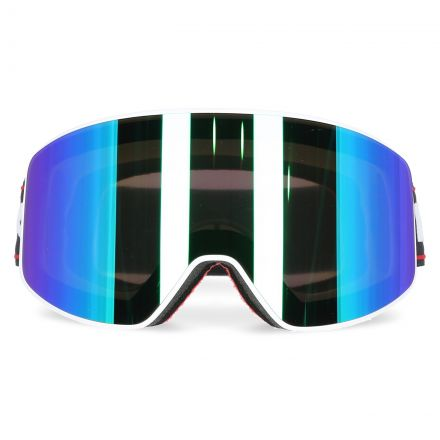 Zion Anti-Fog Coated Mirrored Ski Goggles in White