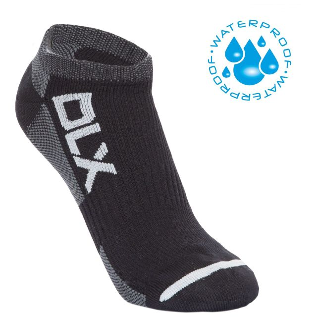 Amphibian Unisex DLX Waterproof Trainer Socks in Black