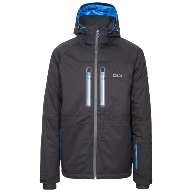 Allen Mens Waterproof Ski Jacket in Black