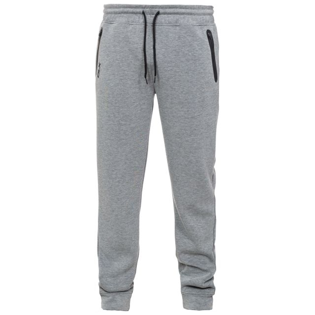 Apoc Mens Grey Tracksuit Bottoms in Light-Grey