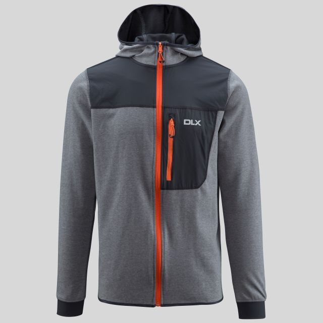 Barnes Mens Quick Dry Hoodie in Grey