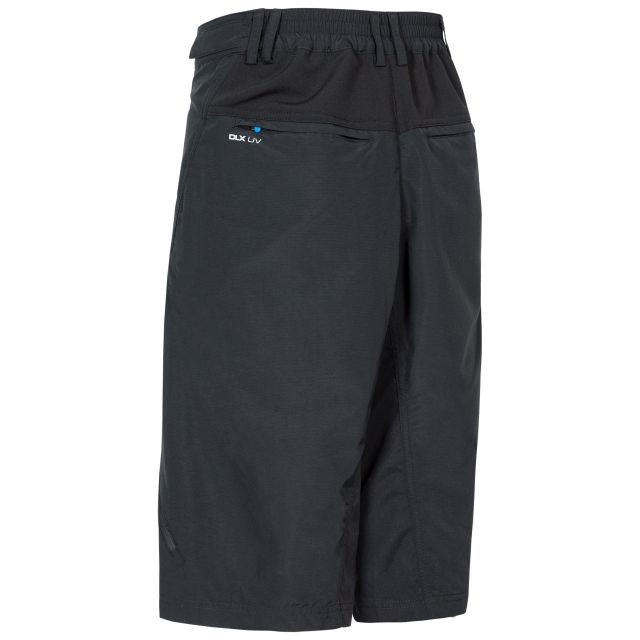 Bertram Mens Long Length Shorts in Black