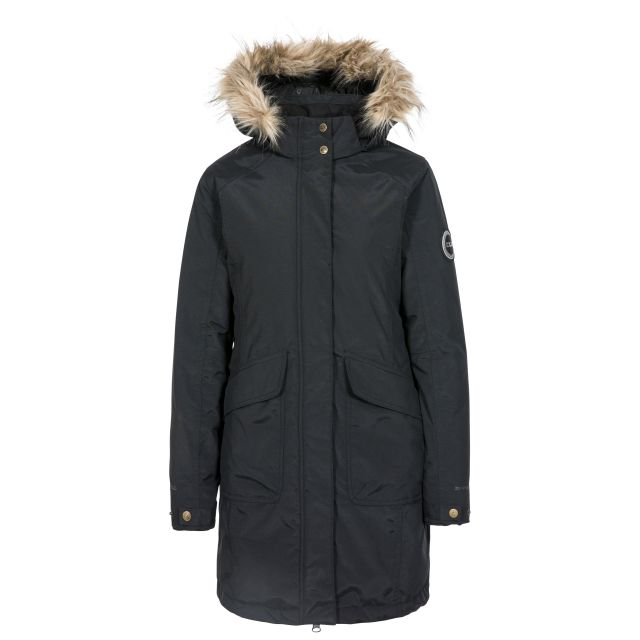 Bettany Womens Waterproof Down Parka Jacket - BLK