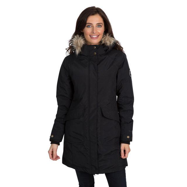 Bettany Womens Waterproof Down Parka Jacket - BLK