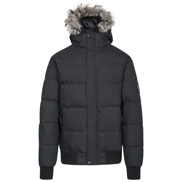 Calgary Mens Down Jacket in Black