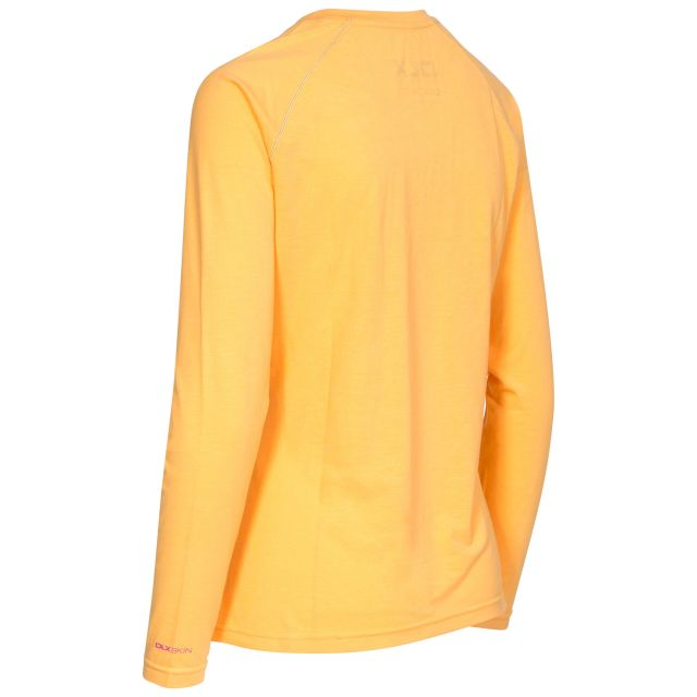 Cali Women's DLX Long Sleeved Antibacterial Quick Dry T-shirt in Orange