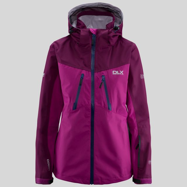 Calissa Women's DLX Hooded Waterproof Jacket  in Pink