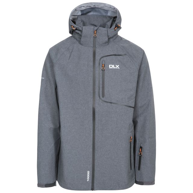 Caspar II Mens Waterproof Jacket in Grey