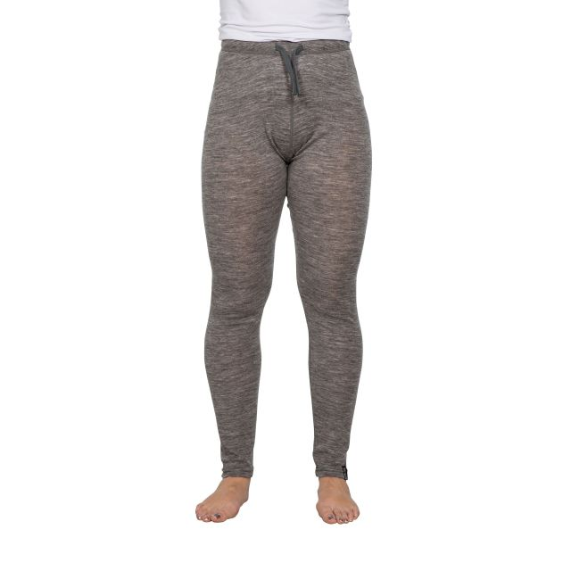 Chara Womens Merino Wool Base Layer Leggings in Grey