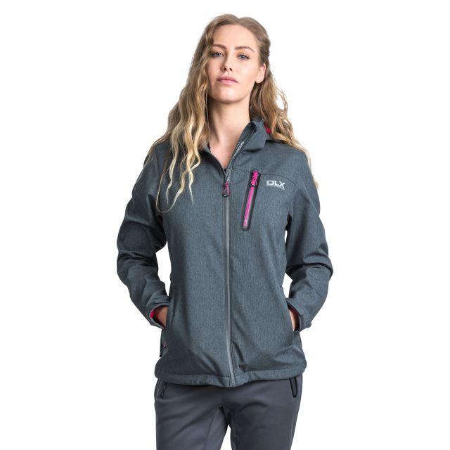 Claren Womens Waterproof Softshell Jacket in Grey