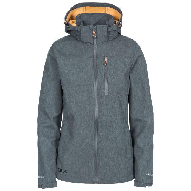 Claren II Womens Waterproof Softshell Jacket in Grey