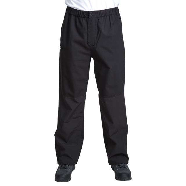 Crestone Mens Waterproof Packaway Trousers in Black