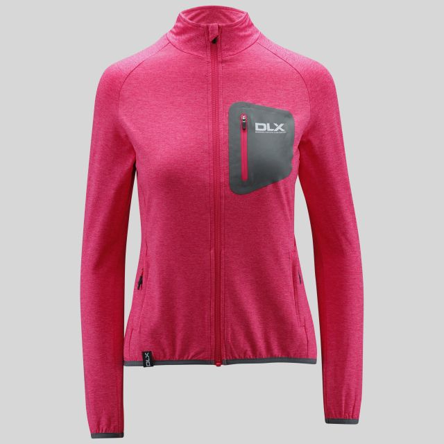 Darby Womens Full Zip Active Jacket in Pink