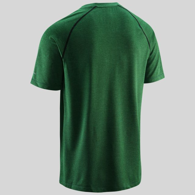 Deckard Mens Round Neck Active T-shirt in Green