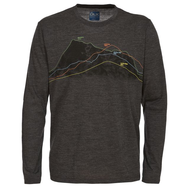 Draper Men's DLX Merino Wool Long Sleeve T-shirt in Grey