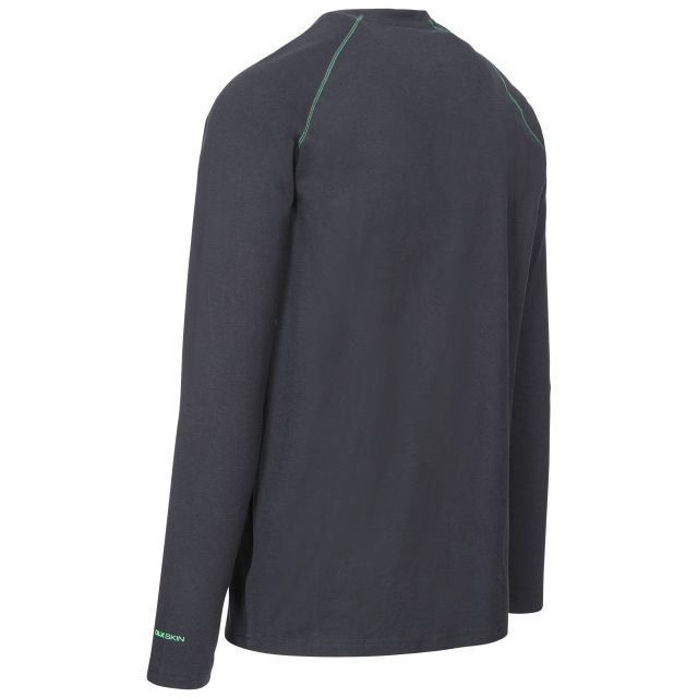 Drax Mens Long Sleeved Top in Black