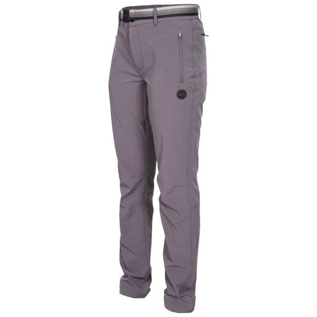 Drena Women's DLX Walking Trousers in Grey, Front view on model