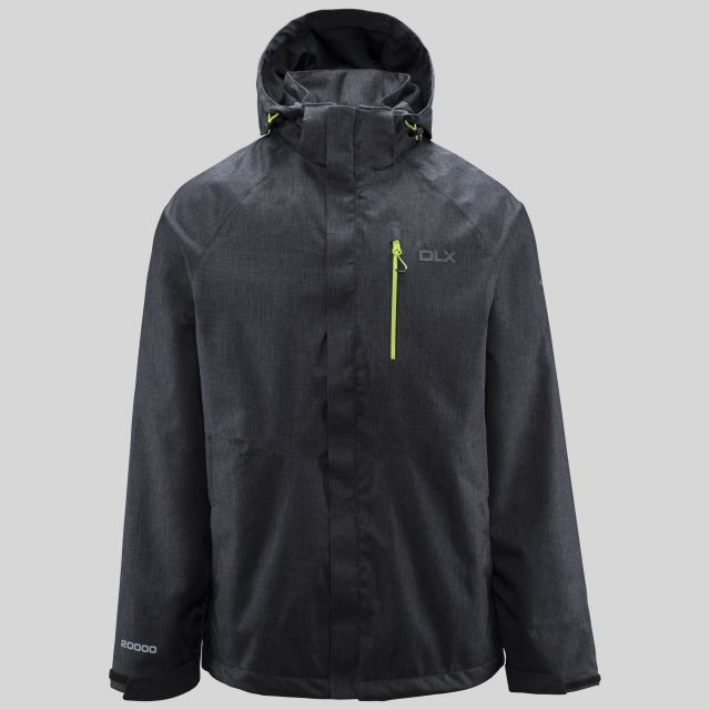 Dupree Mens Waterproof Jacket in Black