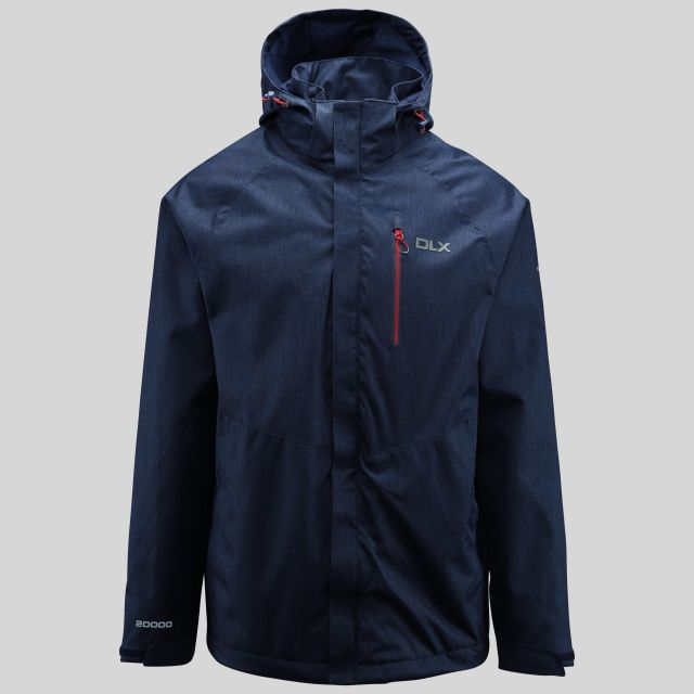 Dupree Mens Waterproof Jacket in Navy