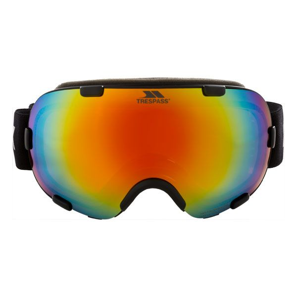 Elba Iridescent Mirrored Dual Lens Ski Goggle in Black