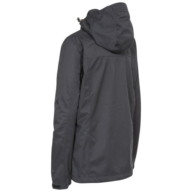 Emeson Womens Hooded Waterproof Jacket in Black