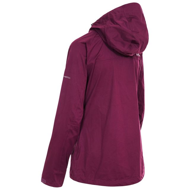 Erika II Womens Waterproof Jacket in Burgundy