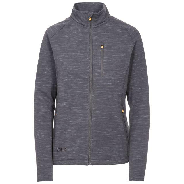Erinn Womens Antibacterial Quick Dry Fleece Jacket in Light-Grey, Front view on mannequin