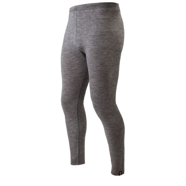 Fitchner Mens Merino Wool Base Layer Pants in Grey