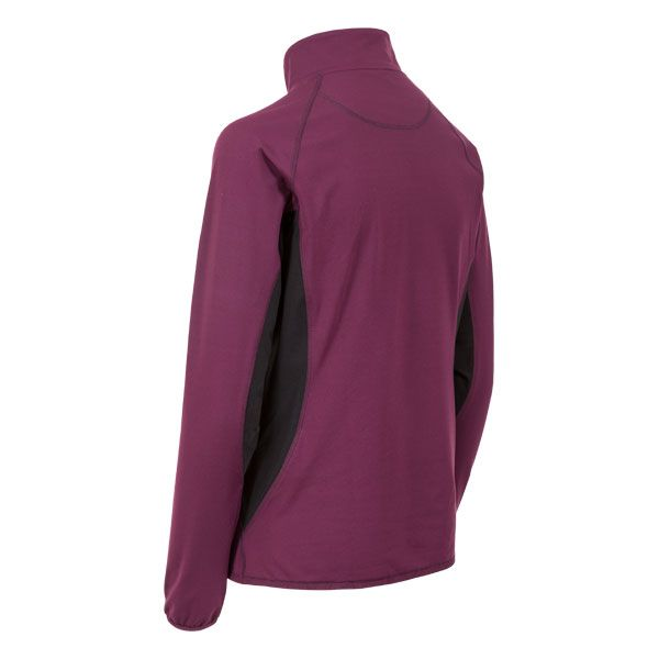 Frey Womens 1/4 Zip Pull Over Active Top in Burgundy