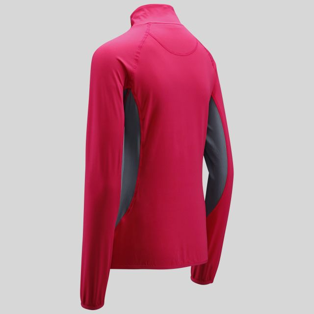 Frey Womens 1/4 Zip Pull Over Active Top in Pink