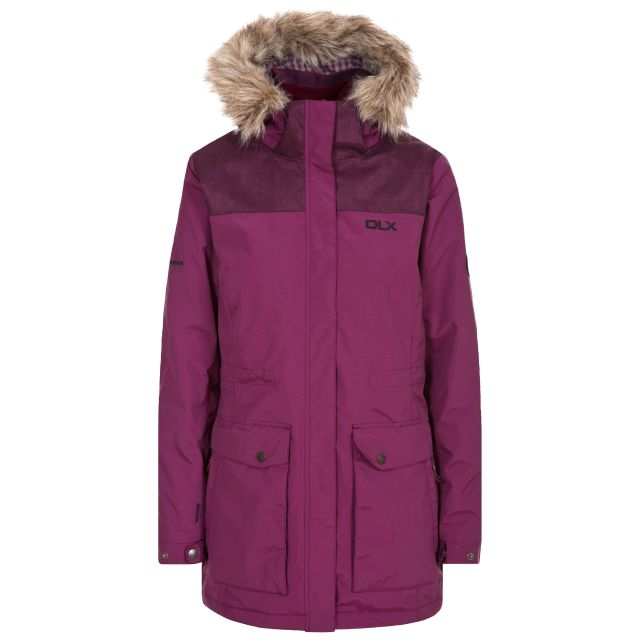 Garner Womens Waterproof Jacket in Burgundy