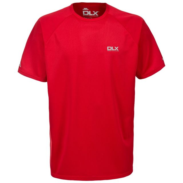 Harland Mens Round Neck Active T-shirt - RED