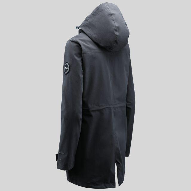 Henriette Womens Long Length Waterproof Jacket in Grey