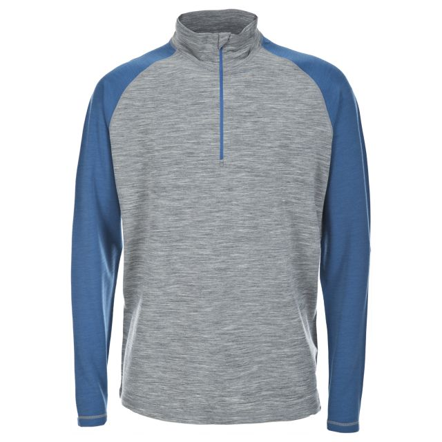 Hex Mens Long Sleeved Active T-Shirt in Light-Grey