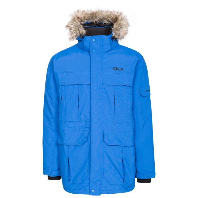 Highland Mens Waterproof Down Parka Jacket - BLU