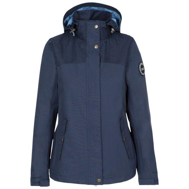 Kelby Women's DLX Waterproof Jacket in Navy, Front view on mannequin